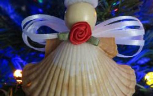 Hét kreatív karácsonyfa dísz kagylóból