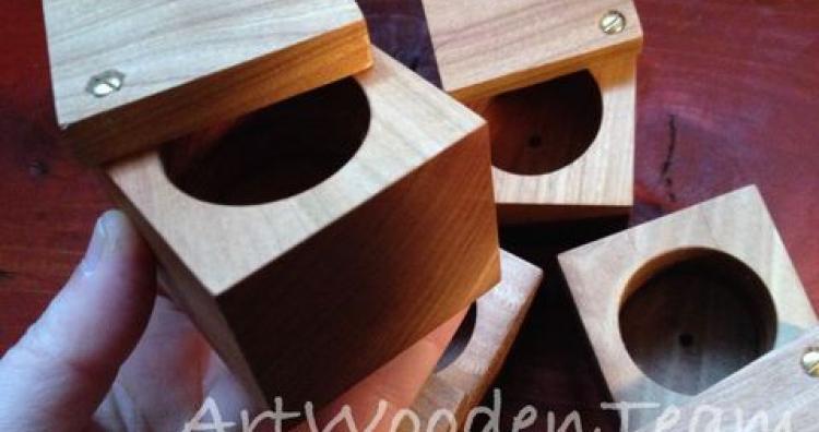 Kreatív ajándék ötlet - fa dobozka gyűrűnek, nyakláncnak, szerelmes üzenetnek