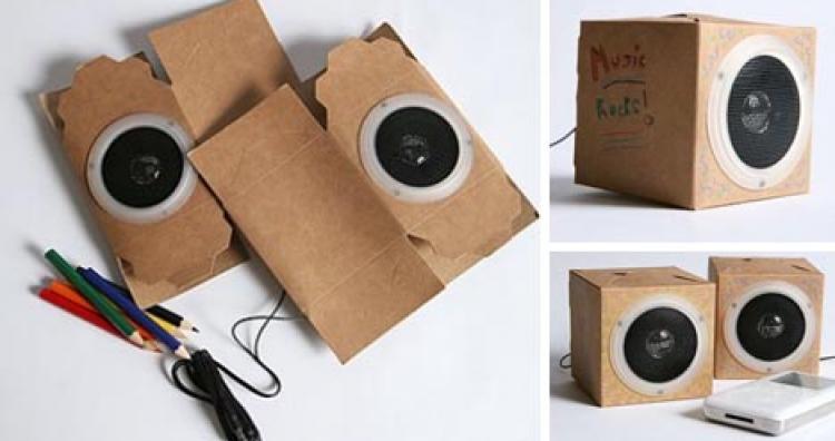 Kreatív ötletek: karton papírból hangszórótok
