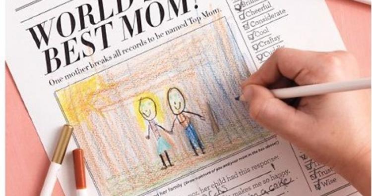 Újság készítés Anyák napjára