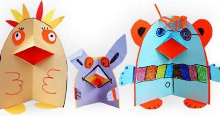 Kreatív ajándék ötlet gyerekeknek: papír hajtogatós
