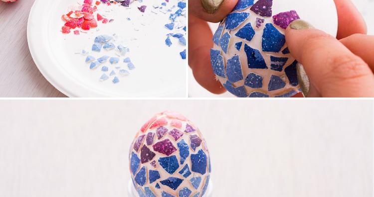 Kreatív tojásfestés -1. rész: Mozaik tojás